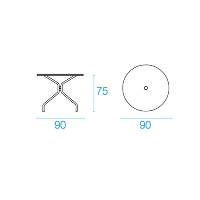 Table de jardin Ø90cm Solid