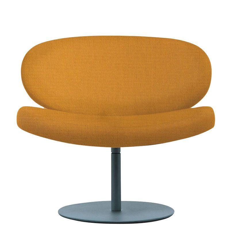 cappellini sunset swivel armchair orangeframe stainless steel