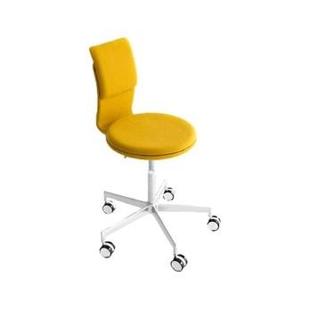 la palma - Lab S70 Drehhocker/Bürostuhl - gelb/Stoff A - Maya FIDVI/höhenverstellbar 76-89cm/Gestell aus Aluminium