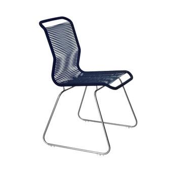 Montana - Panton One Stuhl Gestell Stahl - royale blau/Gestell stahl