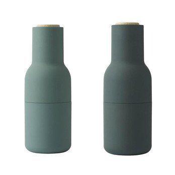 Menu - Bottle Grinder Salzmühle/Pfeffermühle - dunkelgrün/2er Set/Ø 8cm/ H:20,5cm