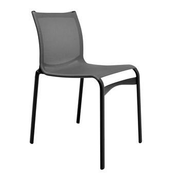 Alias - 441 Bigframe Stuhl Special - schwarz/Gestell alu schwarz/Polyesternetzgewebe