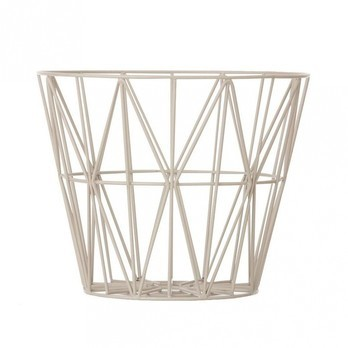 ferm LIVING - Wire Drahtkorb Medium - grau/Ø 50cm / H 40cm
