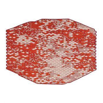 Nanimarquina - Losanges Carpet NEW - red/afghan wool/290x410cm