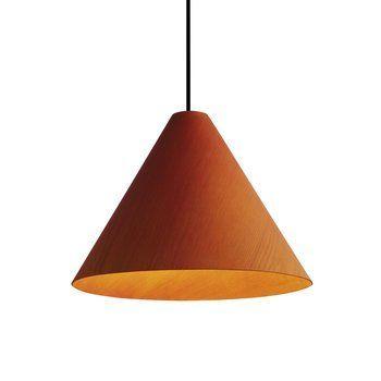 HAY - 30degree LED-Pendelleuchte S - orange/furniert/mit Kabelset/H 17cm/Ø 24cm