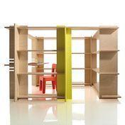 Magis - My First Office Regalwand Kinderzimmer - buche/gelb/inkl. Schreibtisch