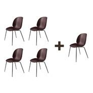 Gubi - Aktionsset 4+1 Beetle Dining Chair Schwarz