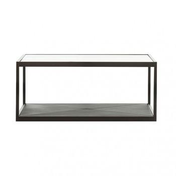 Röshults - Monaco Beistelltisch 100x50  - schwarz/Tischplatte in Glas/L x B x H: 100 x 50 x 35cm