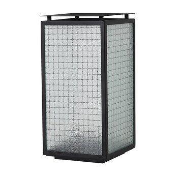 ferm LIVING - Haze Laterne - schwarz/transparent/LxBxH 16.5x16.5x33cm