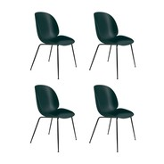 Gubi - Beetle Dining Chair Stuhl Gestell Schwarz 4er Set