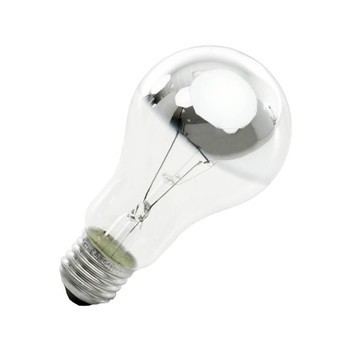 QualityLight - AGL E27 BIRNE KUPPENVERSPIEGELT 60W - transparent/Kuppenverspiegelt/620lm