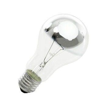 QualityLight - AGL E27 kuppenverspiegelt 60W - silber/Glas/Energieeffizienzklasse f/Gewichteter Energieverbrauch 60 kW/1000 h
