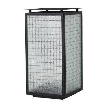- Haze Laterne - schwarz/transparent/LxBxH 16.5x16.5x33cm