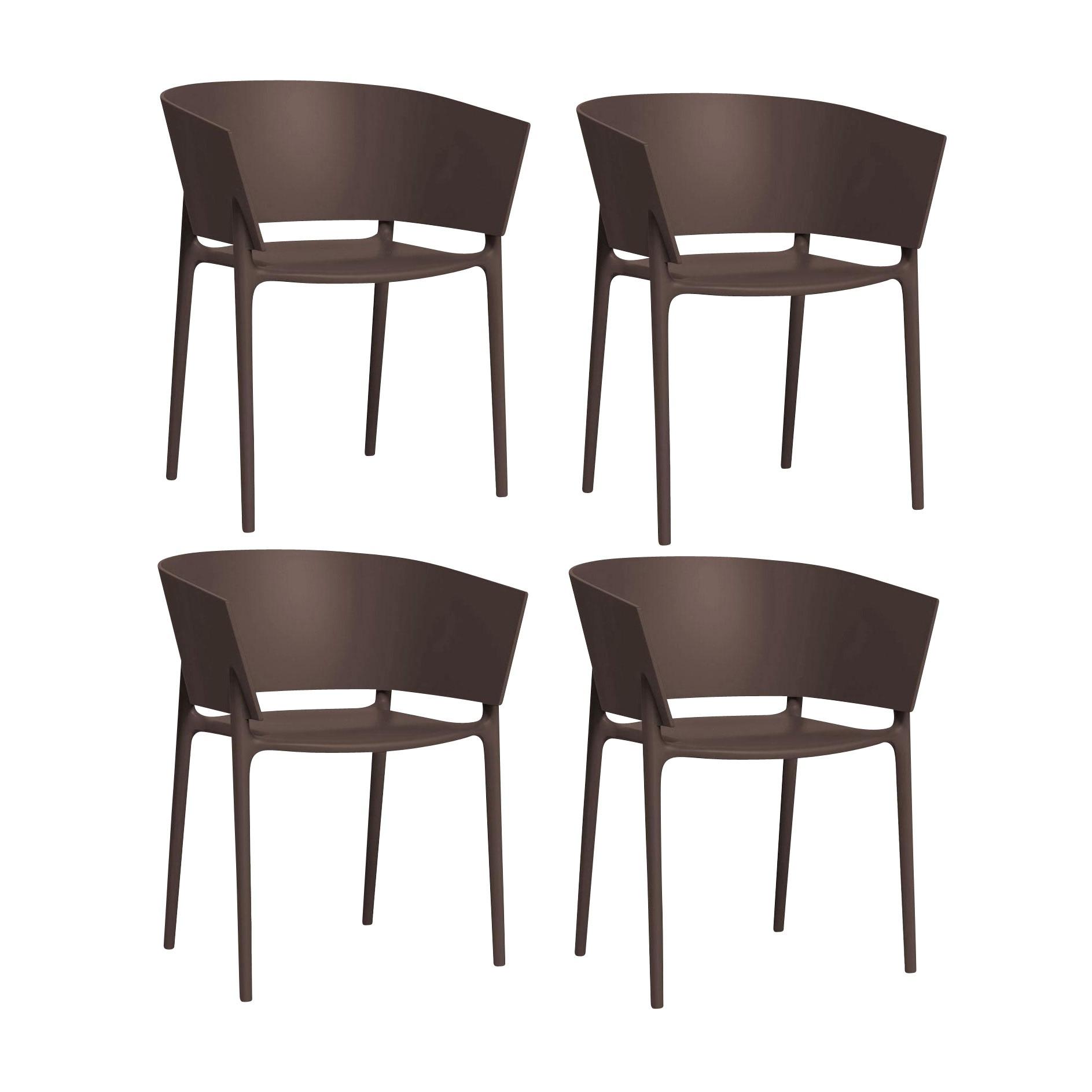 Vondom africa armchair 4 piece set bronze matt h x w