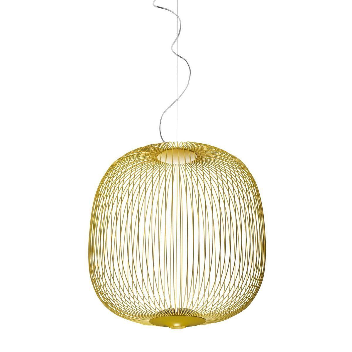spokes  led suspension lamp  foscarini  ambientedirectcom - foscarini  spokes  led suspension lamp  goldenyellowdimableklm