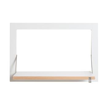 AMBIVALENZ - Fläpps Regal 60x40-1 - weiß/Kante Holz/lackiert/Wandhalterung 1cm/Arbeitsfläche 50x30cm/BxHxT 60x40x2cm