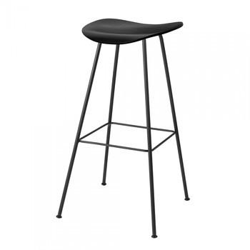 Gubi - Gubi 2D Bar Stool Barhocker - schwarz/Sitzfläche Birke/BxHxT 42x78x41cm/Gestell schwarz