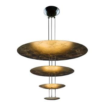 Catellani & Smith - Macchina Della Luce A LED Pendelleuchte - gold/Messing Stäbe/2600K-2800K/4410lm/CRI80/Scheiben Ø80/50/30/18cm
