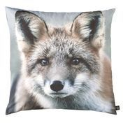 by nord - Fox Cushion 60x60cm - brown/black/white/washable at 30 °/incl. feather filling