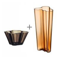 iittala - Promotion Set Alvar Aalto Vase + Bowl
