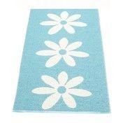 pappelina - Lilo Teppich 70x150cm - verschwommenes blau/vanille