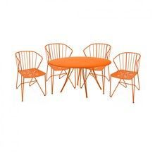 Fermob - 4 Flower Armchairs + 1 Rende-vous Table