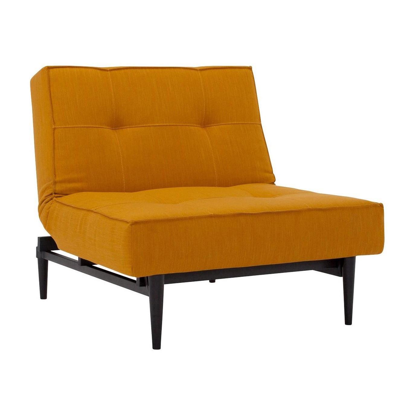 Swell Splitback Styletto Easy Chair Black Wood Inzonedesignstudio Interior Chair Design Inzonedesignstudiocom