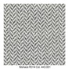 MDF Italia - Flow Slim Armlehnstuhl gepolstert New Edition 2 - braun-dunkelgrau/weiß/Schale weiß/Gestell Eiche/Stoff Monaco R314 Col. 443.001/B56 x T56 x H76.4 cm