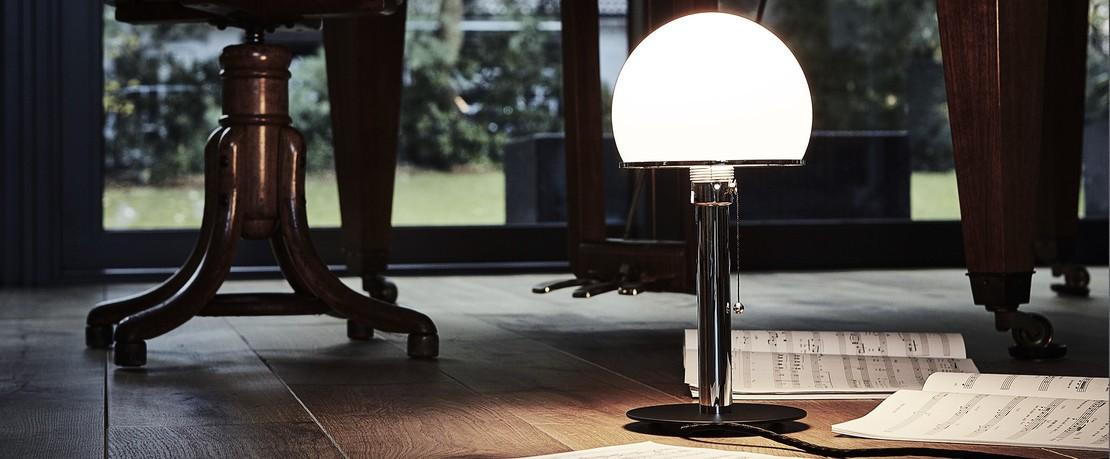 Tecnolumen Wagenfeld Designklassiker Übersichtsseite Presenter