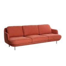 Fritz Hansen - Lune™ JH300 3-Seater Sofa Aluminium Feet