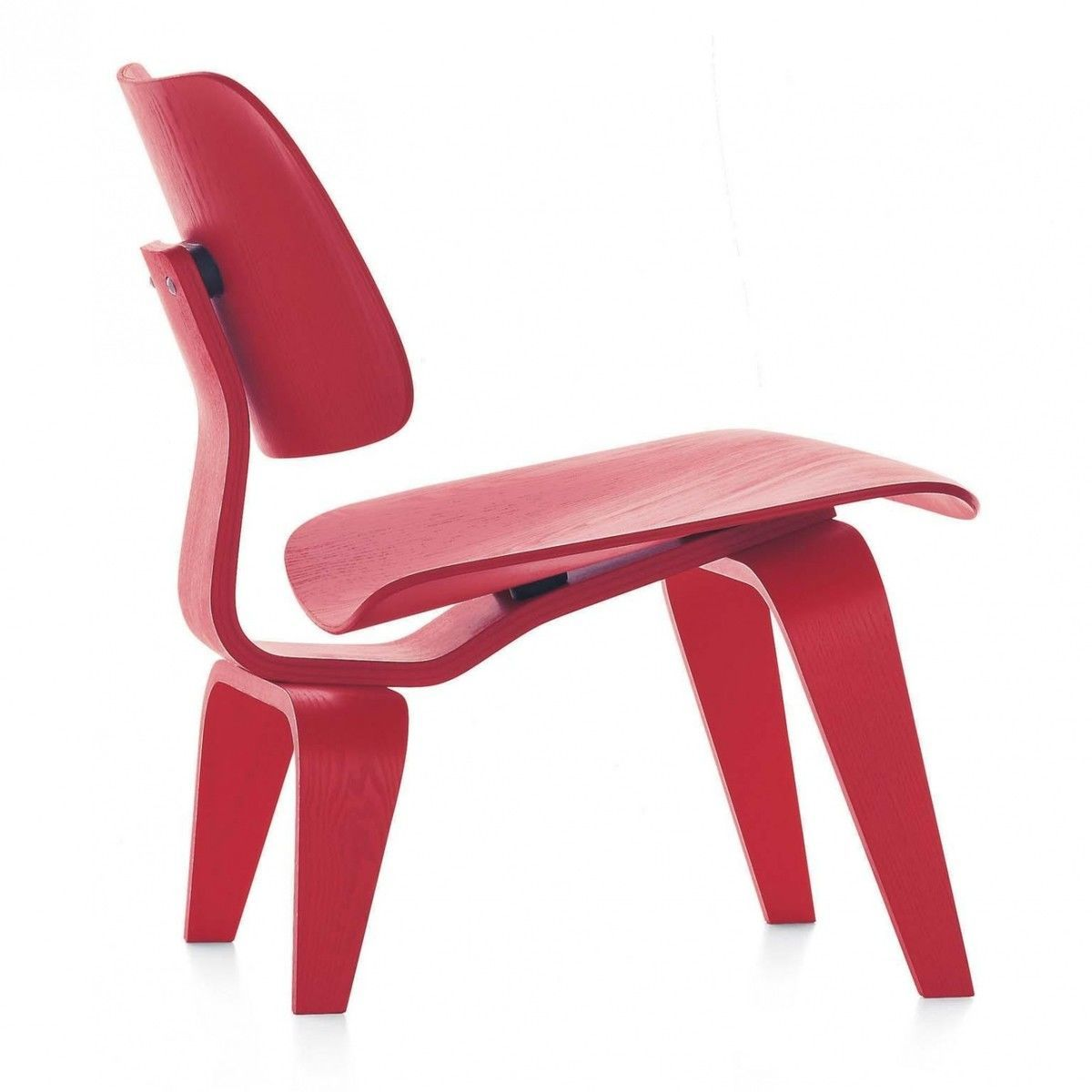 Vitra   LCW Chair   Red Stained Ash/wood