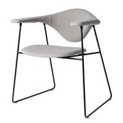 Gubi - Chaise Masculo Dining Chair étoffe