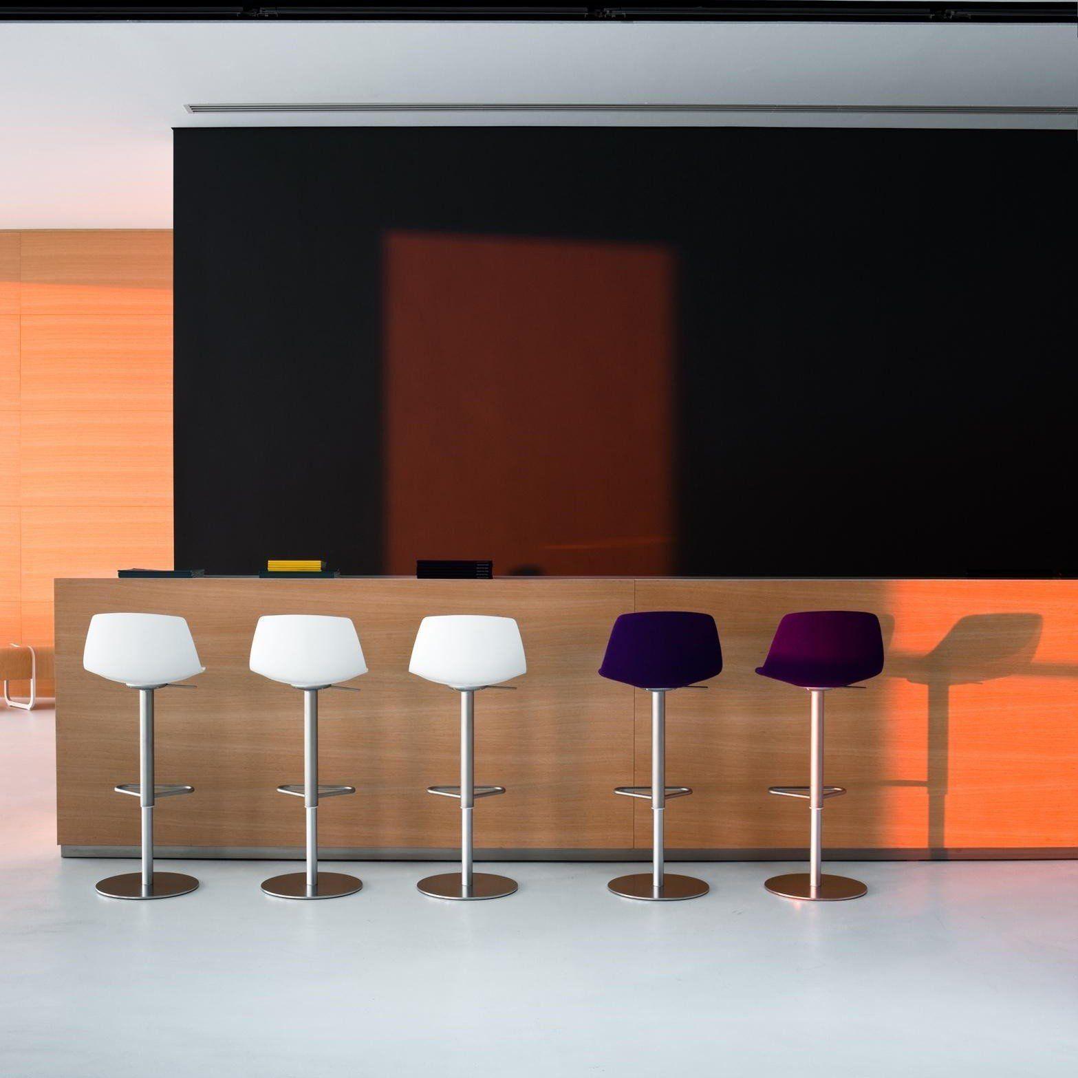 miunn tabouret de bar acier inox rond la palma. Black Bedroom Furniture Sets. Home Design Ideas