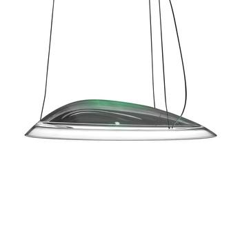 Artemide - Ameluna RBG LED Pendelleuchte - transparent/App Control/3414lm/Wärmeleiter/H 15cm/Ø 75cm