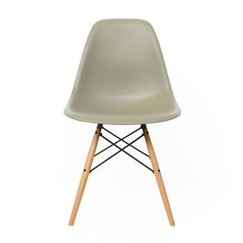 Vitra - Eames Plastic Side Chair DSW - sea cyprus grey/polypropylene/frame maple/Special colour - limited edition!/with felt gliders