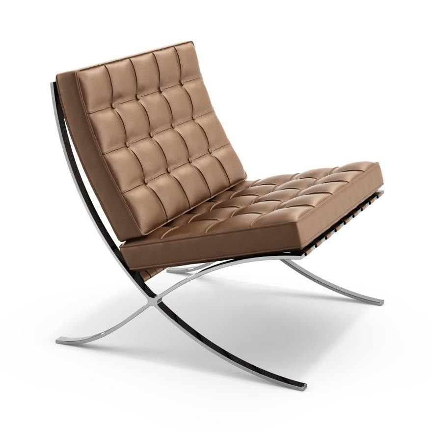 Barcelona mies van der rohe chauffeuse knoll international ambientedire - Canape barcelona mies van der rohe ...