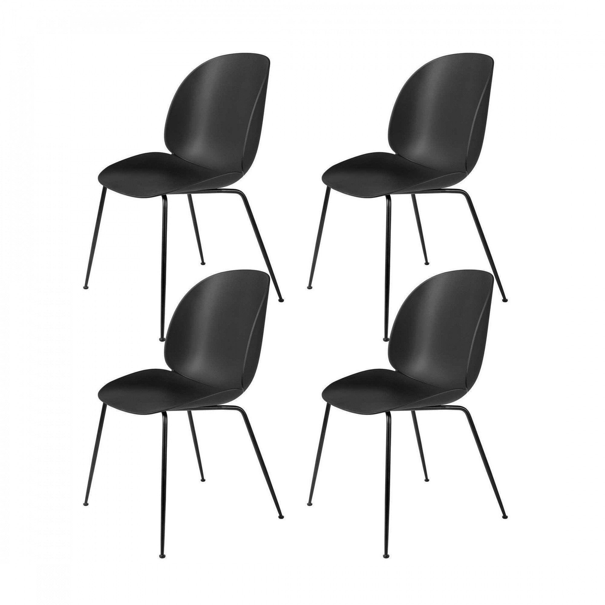 gubi beetle dining chair set of 4 ambientedirect. Black Bedroom Furniture Sets. Home Design Ideas