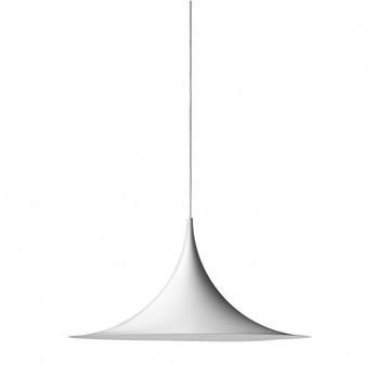 Gubi - Semi 47 Pendelleuchte - weiß / Ø47cm/matt