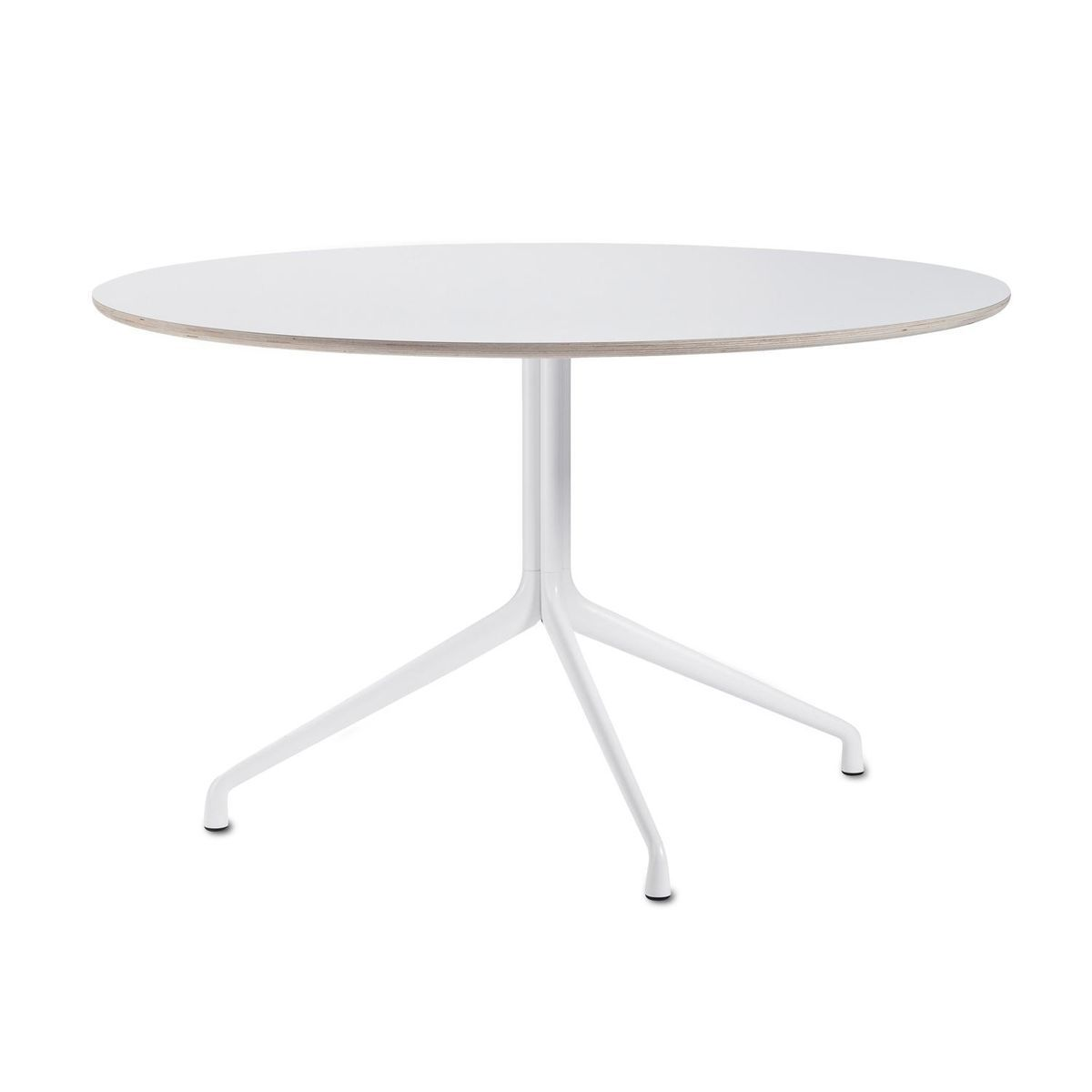 HAY   About A Table Dining Table Round Ø110cm   White/table Top Laminate/