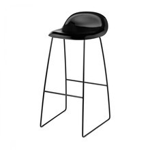 Gubi - Gubi 3D Bar Stool Kufengestell schwarz
