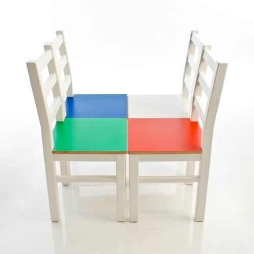 Kinderbunt - Marie Kinderstuhl zweifarbig
