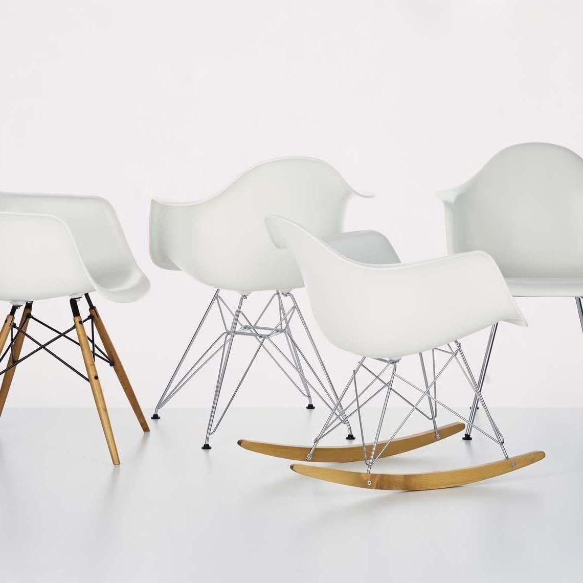 Vitra   Eames Plastic Armchair DAR Upholstered H43cm ...