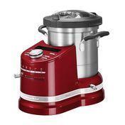 KitchenAid - Artisan 5KCF0103 Cook Processor Küchenmasch. - liebesapfelrot/LCD/programmierbarer Timer/1050-1500W/50-60Hz/Drehzahl 100-2300/LxBxH 34.2x31.4x41.1cm/Kabellänge 1m