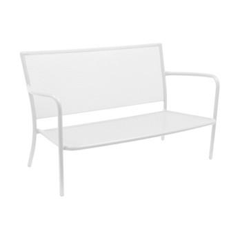 emu - Athena 2-Sitzer-Gartensofa - weiß/pulverbeschichtet/BxHxT 134x78x78cm