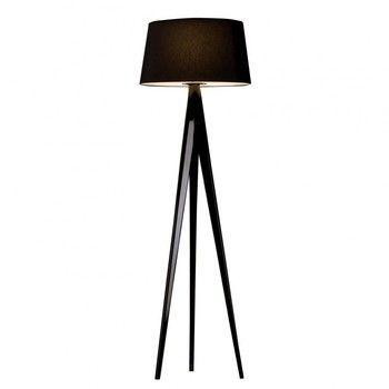Metalarte - Triana Stehleuchte - schwarz/Stativ schwarz lackiert/H 205cm/Ø55cm