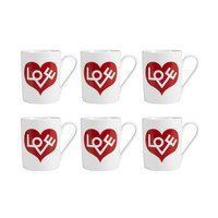 Vitra - Coffee Mug Love Heart Set Of 6