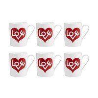 Vitra - Coffee Mug Love Heart Kaffeetasse 6er Set