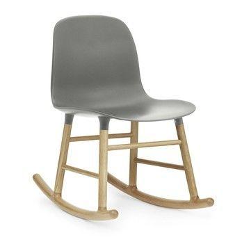 Normann Copenhagen - Form Rocking Chair Oak Schaukelstuhl Eiche - grau/Gestell eiche/H x B x T: 73 x 48 x 69cm