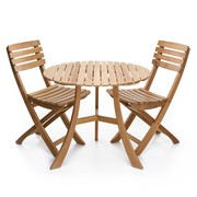 Skagerak - 1 table Vendia + 2 chaise des jardin vendia
