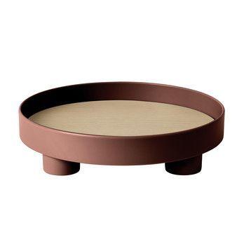 Muuto - Platform Tray Tablett - dunkelrot/H 7,2m, Ø 30cm
